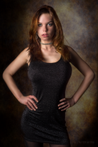 Woman portrait studio composite background