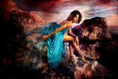 Fantasy color fashion shoot